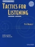 Expanding Tactics for Listening Second Edition Test Booklet with CD - RICHARDS, J. C.