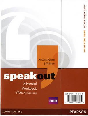 Speakout Advanced Workbook EText Access Card - 1st Student Manual/Study Guide