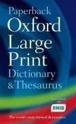 Paperback Oxford Large Print Dictionary and Thesaurus - HAWKER, S.