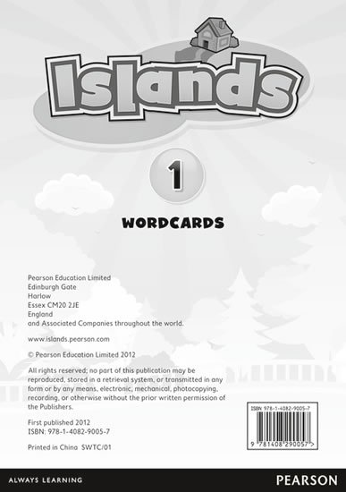 Islands Level 1 Word Cards for Pack