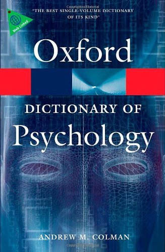 Oxford Dictionary of Psychology 3rd Edition (Oxford Paperback Reference) - COLMAN, A. M.